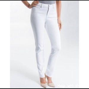 Liverpool White Denim Skinny Jeans 10